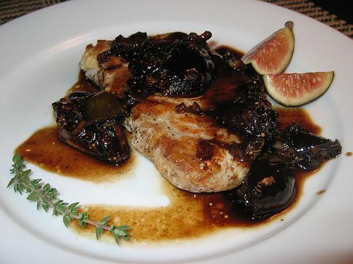 Pork Chops in Balsamic Fig Sauce
