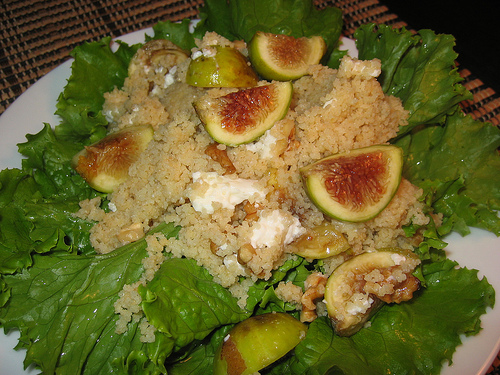 Fig, Goats Cheese and Walnut Couscous Salad