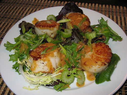 Sauted Scallops in Miso Sauce