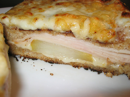 Croque Monsieur with Pear and Smoked Turkey