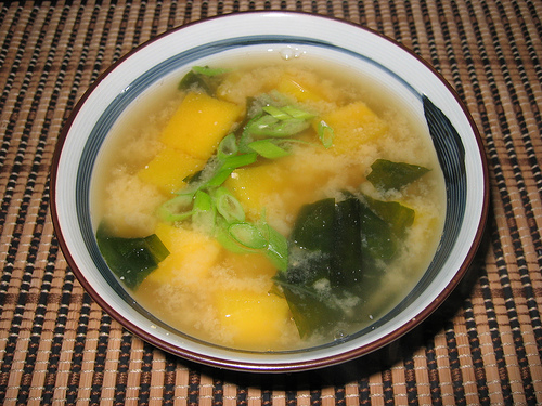Butternut Squash and Wakame Miso Soup