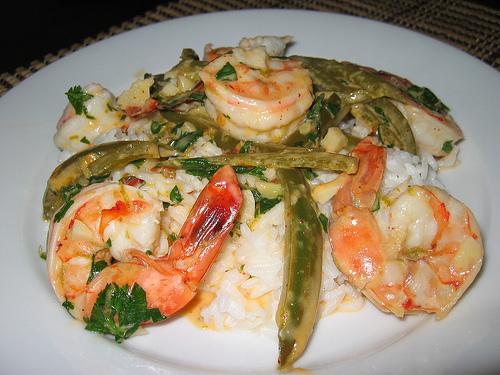 Spicy Shrimp on Coconut Rice