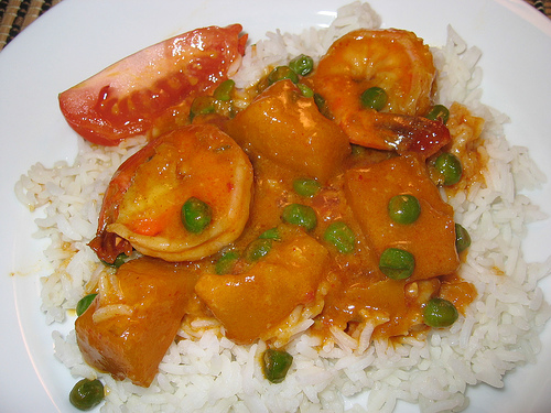 Red Curry with Shrimp and Kabocha (Pumpkin)