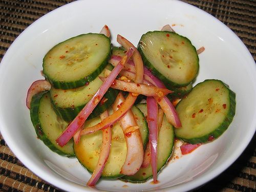 Spicy Korean Cucumber Salad