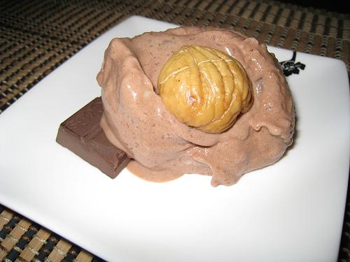 Chestnut and Chocolate Ice Cream