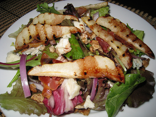 Grilled Pear Salad With Port Vinaigrette