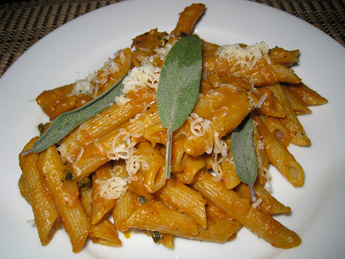 Penne with Pumpkin and Sage Sauce