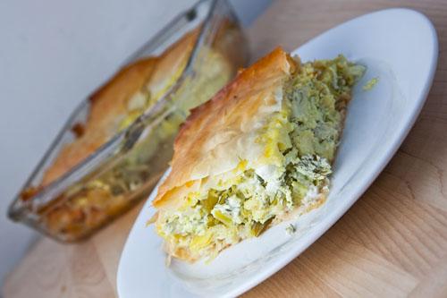 Agginaropita (Greek Artichoke Pie)