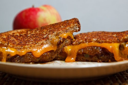 Grilled Cheese Sandwich with Apple Chutney
