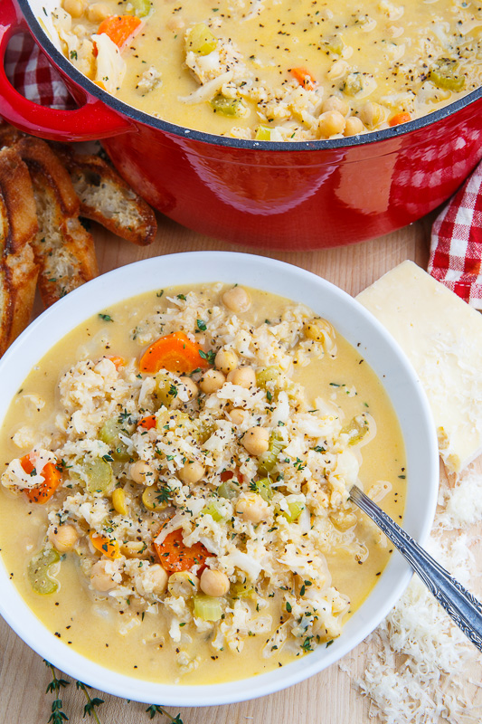 Asiago Cauliflower and Quinoa Chowder