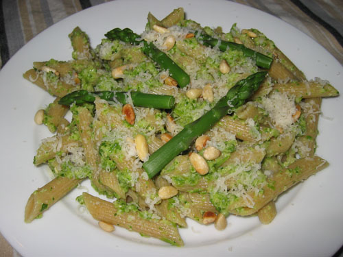 Asparagus Pesto on Penne