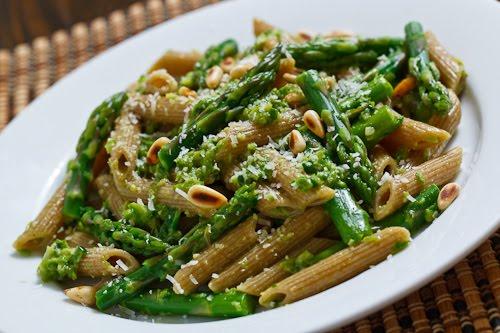 Asparagus and Ramp Pesto Pasta