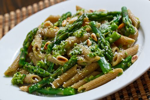 Asparagus and Ramp Pesto Pasta