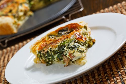 Asparagus and Spinach Quiche