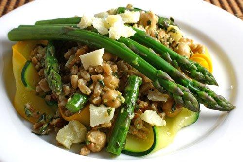 Asparagus and Zucchini Farro Salad