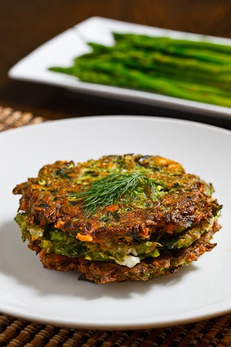 Asparagus and Feta Fritters