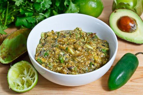 Avocado and Roasted Tomatillo Salsa