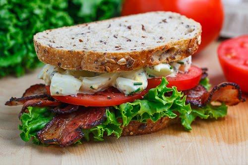 BELT (Bacon Egg Lettuce Tomato) Sandwich