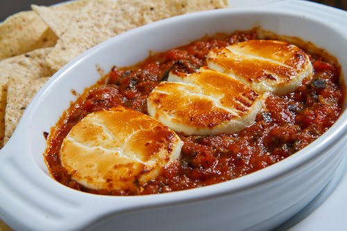 Baked Goat Cheese Salsa