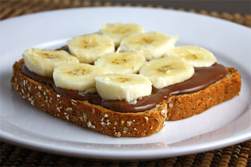 Nutella and Banana Sandwich