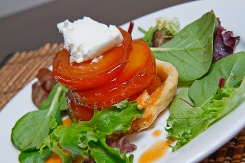 Golden Beet Tatin with Goat Cheese