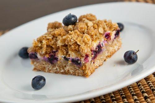 Blueberry Crumb Bars with Lemon Cream Filling