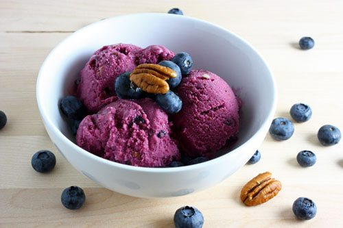 Blueberry Maple Pecan Frozen Yogurt