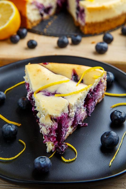 Blueberry Swirl Lemon Cheesecake