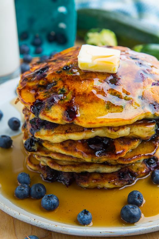 Blueberry Zucchini Pancakes