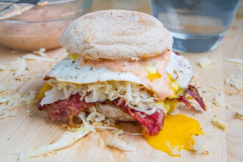 Breakfast Reuben Sandwich
