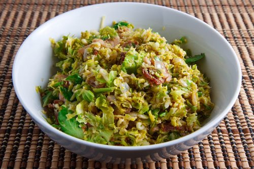 Brussels Sprouts with Bacon and Lemon