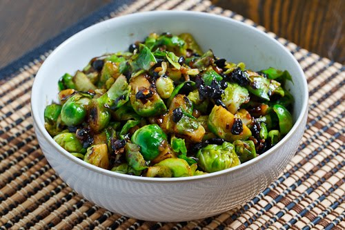 Brussels Sprouts in Black Bean Sauce