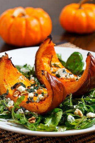Caramelized Pumpkin and Gorgonzola Salad