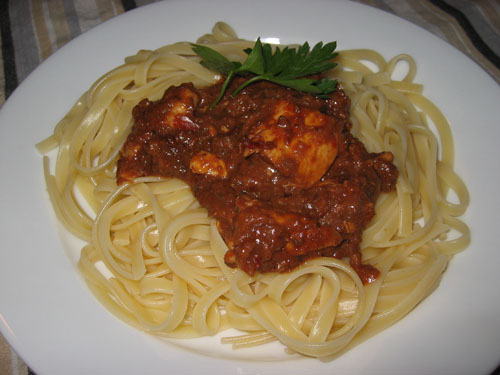 Chicken Mole Fettucini
