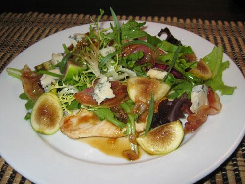 Chicken Paillard with Fresh Fig Salad