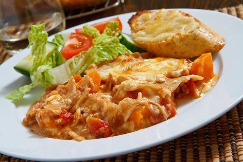 Chicken, Roasted Butternut Squash and Feta Lasagna