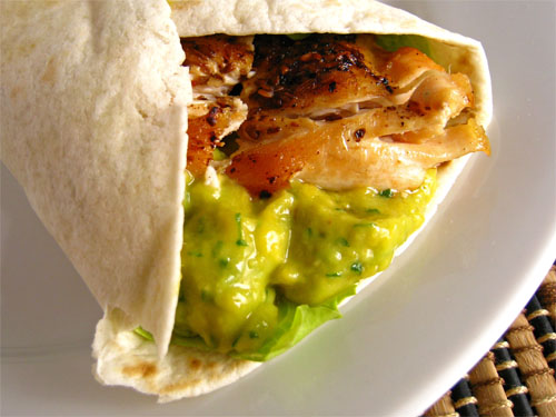 Chicken and Mango Guacamole Wrap