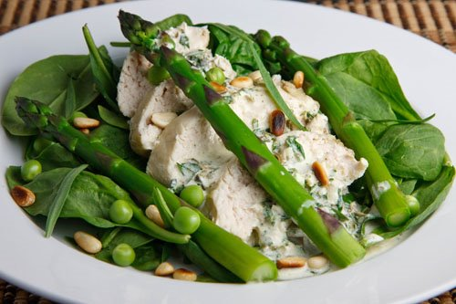 Chicken and Asparagus Salad with Creamy Tarragon Dressing