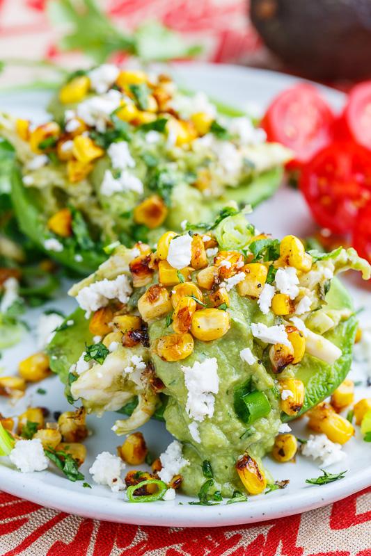 Chicken Enchilada Stuffed Avocados