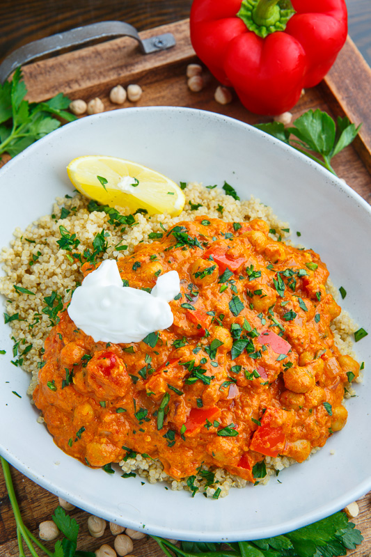 Chickpea and Red Pepper Paprika