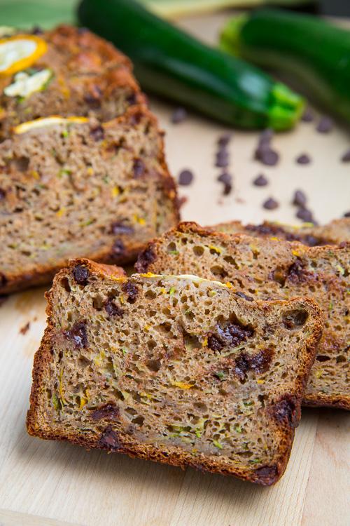 Chocolate Chip Zucchini Greek Yogurt Banana Bread