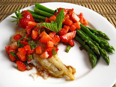 Cod with Strawberry Salsa
