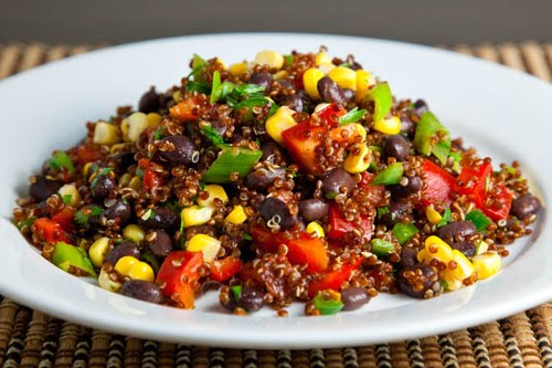 Corn and Black Bean Quinoa Salad