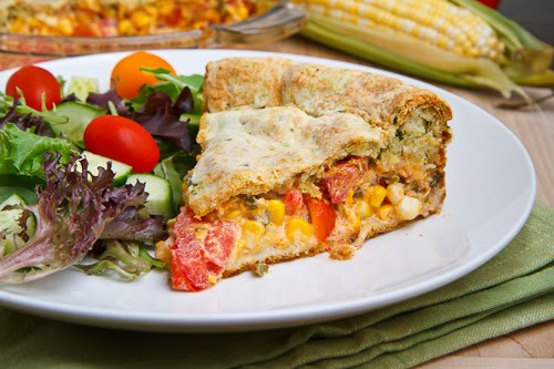 Corn and Tomato Pie