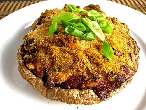 Creamy Stuffed Portabella Mushrooms