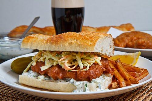 Crispy Beer Battered Fish Sandwich