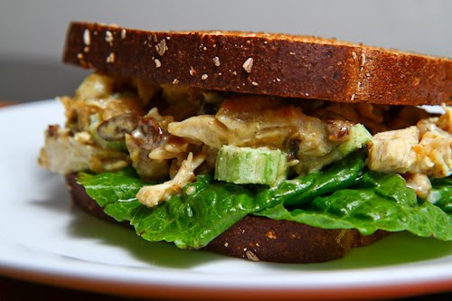 Curried Chicken Salad Sandwich with Apple Chutney