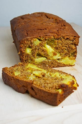 Curried Pineapple Banana Bread (Siamese Loaf)