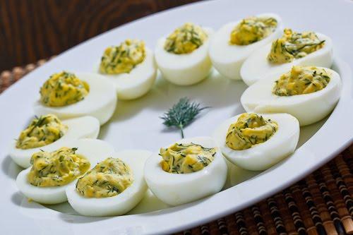 Dill and Lemon Deviled Eggs