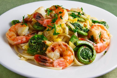Fiddlehead Shrimp Scampi